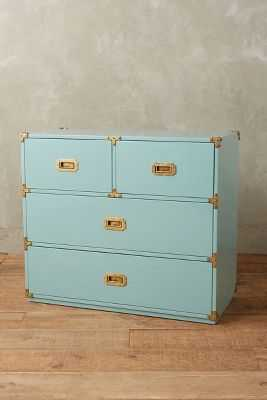 Lacquered Wellington Four-Drawer Dresser - Mint - Anthropologie