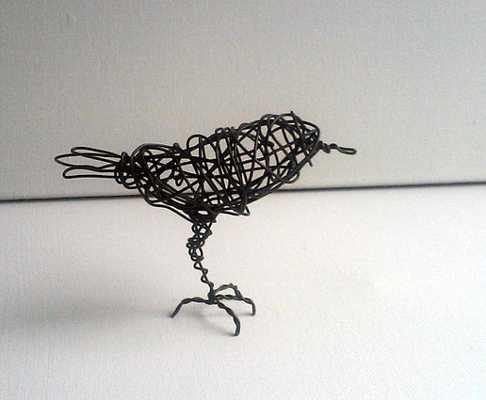 Original Handmade Wire Bird Sculpture - ONE FOOT Darling - Etsy