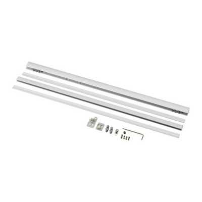 KVARTAL Top and bottom rail - Aluminum color - Ikea