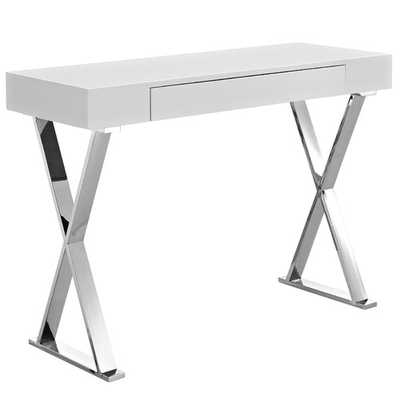 Sector Console Table - White - Wayfair