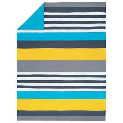 Twin Wide Lined Duvet Cover - Land of Nod