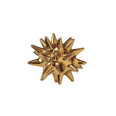 Urchin Shiny Gold Object - Dwell Studio