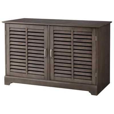 Shuttered Door TV Stand - Dark Gray - Target