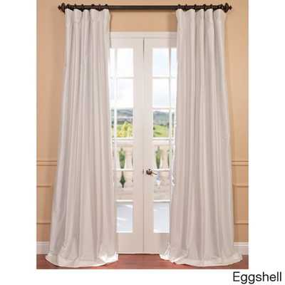 "EFF Faux Silk Taffeta Solid Blackout Curtain Panel - 84""L - Overstock"