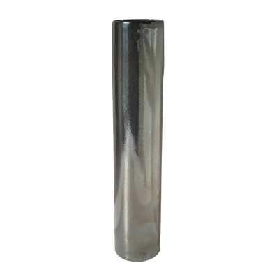Tarnished Metallic Pillar Vase - lg - Rosen Studio