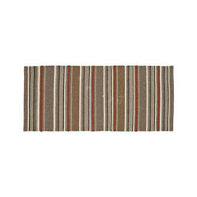 Lia Stripe Wool-Blend Rug - 2.5'x6' - Crate and Barrel