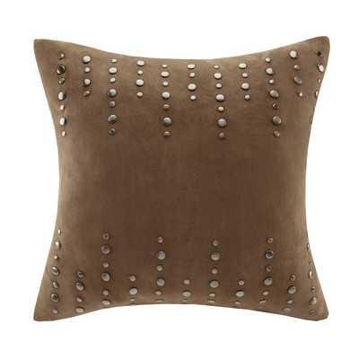 Stud Suede Throw Pillow - insert included - Wayfair