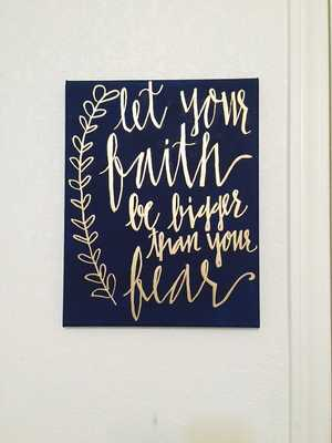 Hand Lettered Quote Calligraphy Wall Art Home Decor - Etsy
