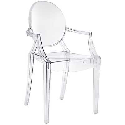 CASPER DINING ARMCHAIR IN CLEAR - Modway Furniture