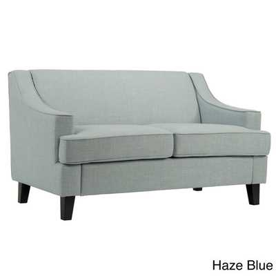 INSPIRE Q Winslow Concave Arm Modern Loveseat - Haze Blue - Overstock
