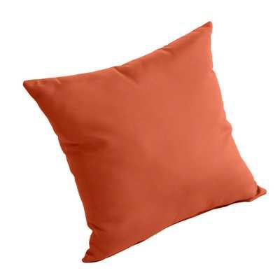 """Outdoor Sunbrella Pillow - Brick - 16"""" - insert - Wayfair"""