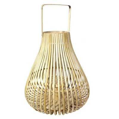 "Thresholdâ""¢ Bamboo Lantern with Glass (14.6"") - Target"