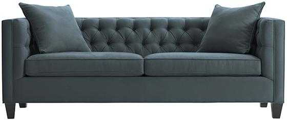 LAKEWOOD TUFTED SOFA - Blue Lagoon - Long - Home Decorators