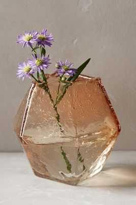 Faceted Gem Vase - Pink - Medium - Anthropologie