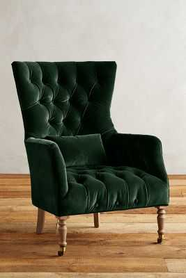 Velvet Julienne Chair - Forest - Anthropologie