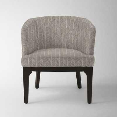 Oliver Chair - Platinum Herringbone Print - West Elm