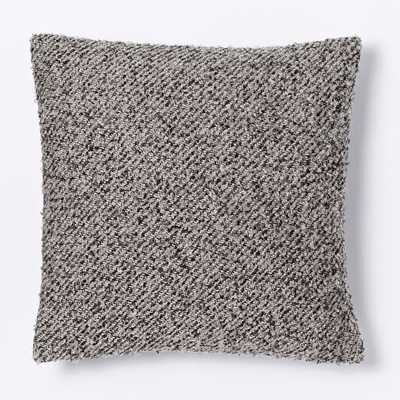 "Heathered Boucle Pillow Cover - Platinum - 18""sq - Insert Sold Separately - West Elm"