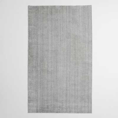 Hand-Loomed Shine Rug - Silver - 5' x 8' - West Elm