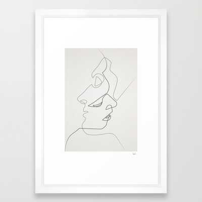 "Close -  15"" x 21"" - Vector white frame - Society6"
