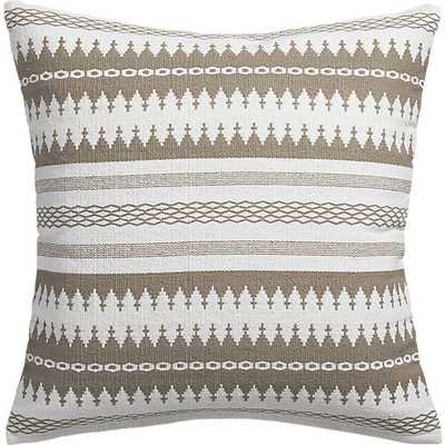 "Insignia natural 23"" pillow with feather insert - CB2"