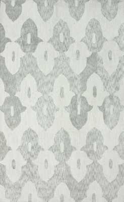 "Hand Hooked Honor Cotton rug - Light Grey; 7' 6"" x 9' 6"" - Loom 23"