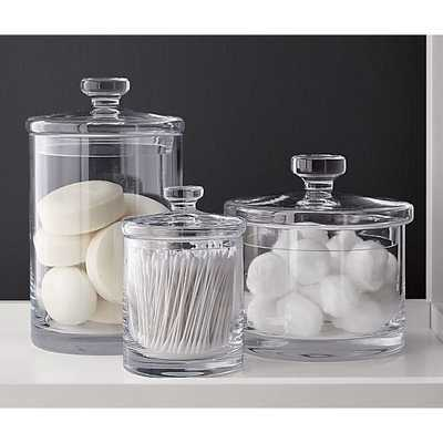 Glass Canisters Set of Three - Crate and Barrel