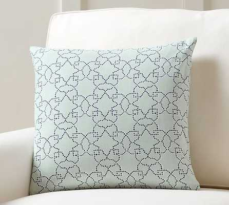 Iris Printed Pillow Cover - Navy, 18x18, No Insert - Pottery Barn