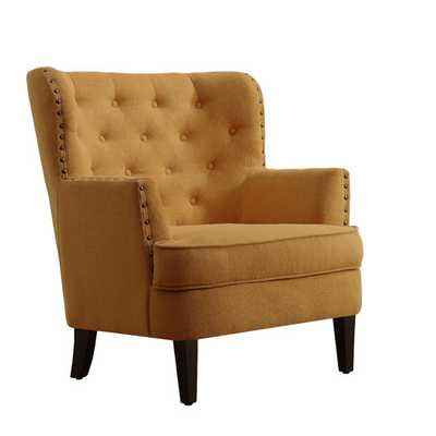 Chrisanna Tufted Upholstered Club Chair - Mustard Yellow - AllModern