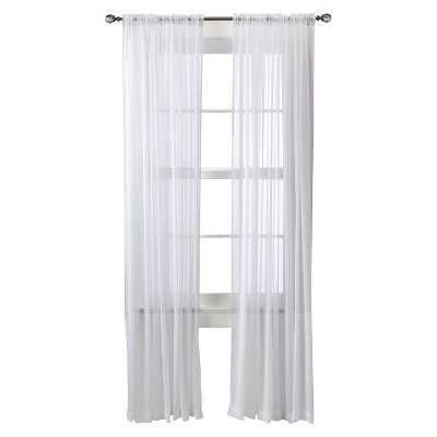 "Chiffon Sheer Curtain Panel - White - 52""W x 95""L - Target"