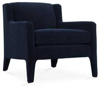 Trent Chair, Navy Velvet - One Kings Lane