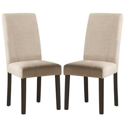 Ramiro Fabric Upholstered Parson Chairs (Set of 2) - Overstock