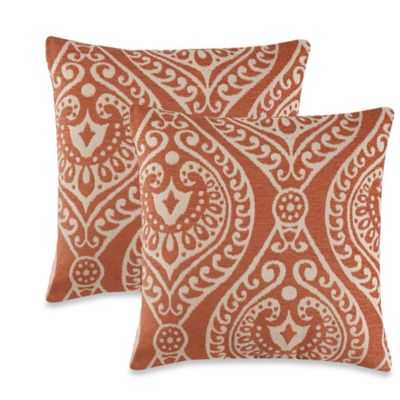 "Giza Throw Pillow in Rust (Set of 2) - 18"" L x 18"" W - Bed Bath & Beyond"