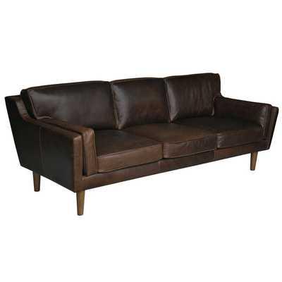 Beatnik Leather Sofa Columbus Chocolate - Overstock