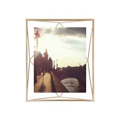 "Prisma Photo Display 8x10"" Matte Brass - Domino"