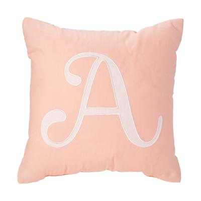 "'A' Typeset Throw Pillow - 14""Wx14""H - Polyester Fill - Land of Nod"