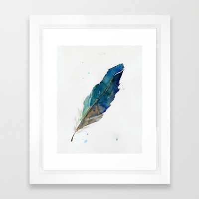 "Feather -10"" x 12""- framed - Society6"