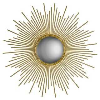 Linda Wall Mirror, Gold Leaf - One Kings Lane