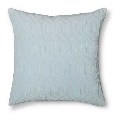 "Velvet Decorative Pillow - Blue - 20""sq. - Polyester fill - Target"