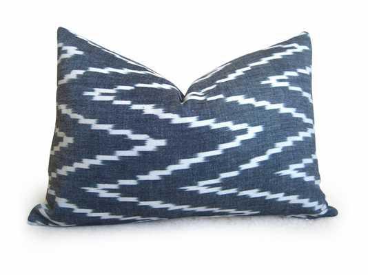 """Kasari Pillow Cover - Graphite - 12"""" x 18"""" - No insert - Willa Skye"""