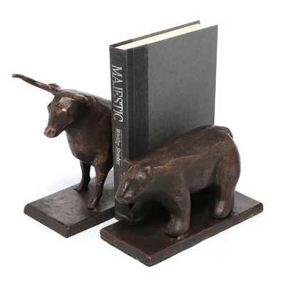 Bull & Bear Bookends (Set of 2) - jossandmain.com