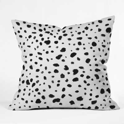 MISS MONROES DALMATIAN Throw Pillow- 18x18- With insert - Wander Print Co.