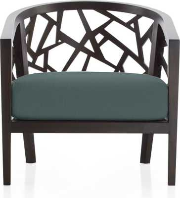 Ankara Truffle Frame Chair with Fabric Cushion - Crate and Barrel