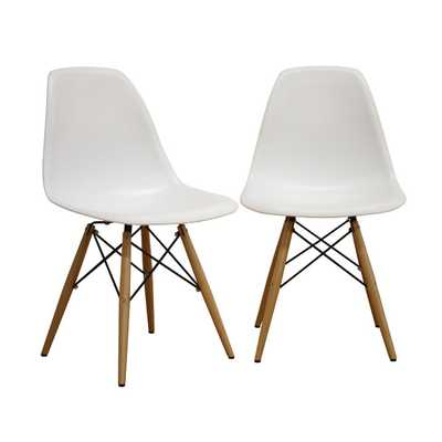 Azzo Shell Side Chair- Set of 2 - Wayfair