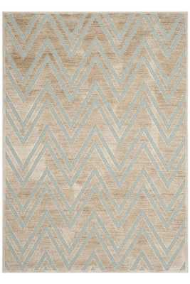 "JOSIE AREA RUG - STONE/AQUA; 8' x 11' 2"" - Home Decorators"