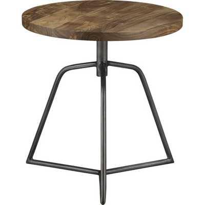 Dot acacia side table-stool - CB2