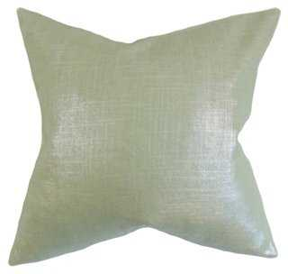 Glitz 18x18 Pillow, Aqua - One Kings Lane