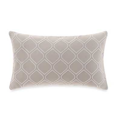 """Embroidered Oblong Throw Pillow - orchid - 12""""x20"""" - with Insert - Bed Bath & Beyond"""