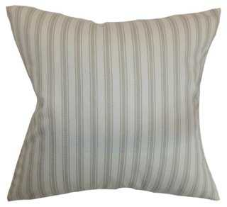 "Kelanoa Stripes 18"" x 18"" Cotton Pillow, Natural with insert - One Kings Lane"