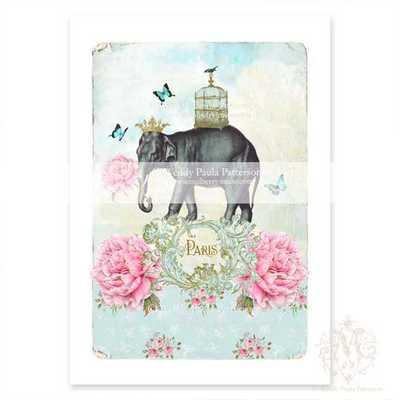 """Elephant print, nursery decor- 8.25"""" x 11.75""""- Unframed - Etsy"""