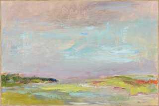 "Amy Dixon, Cape Cod Seascape - 24 1/2"" x 36 1/2"" x 1 7/8"" - Framed (Natural) - One Kings Lane"